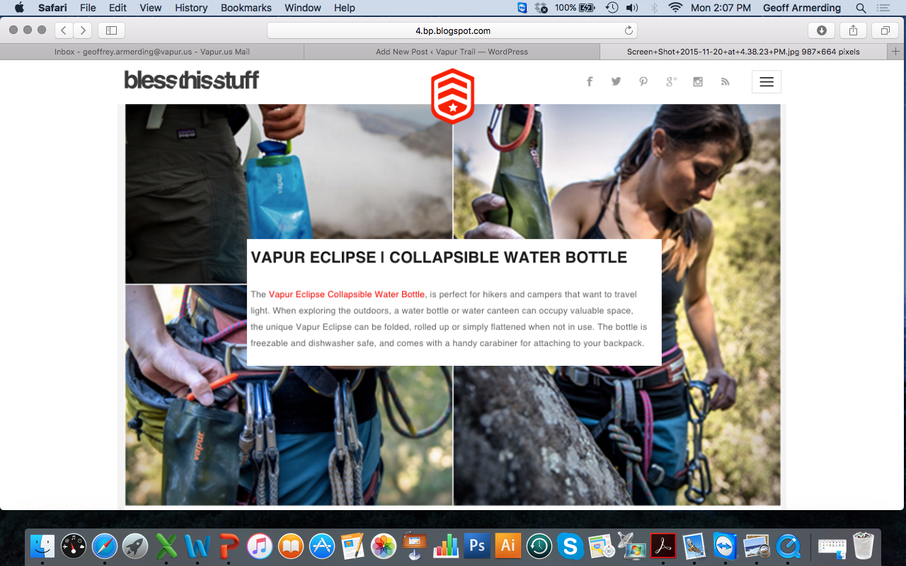 Bless this Stuff- Vapur Eclipse | Collapsible Water Bottle